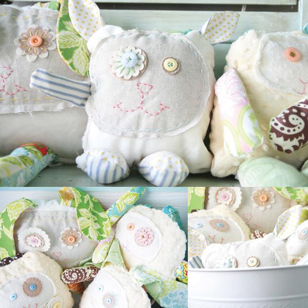 Regina the rabbit and lulu the lamb plushie tutorials