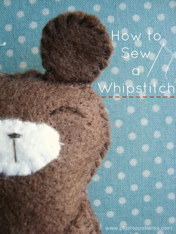 how to whipstitch #embroidery #plushiepatterns