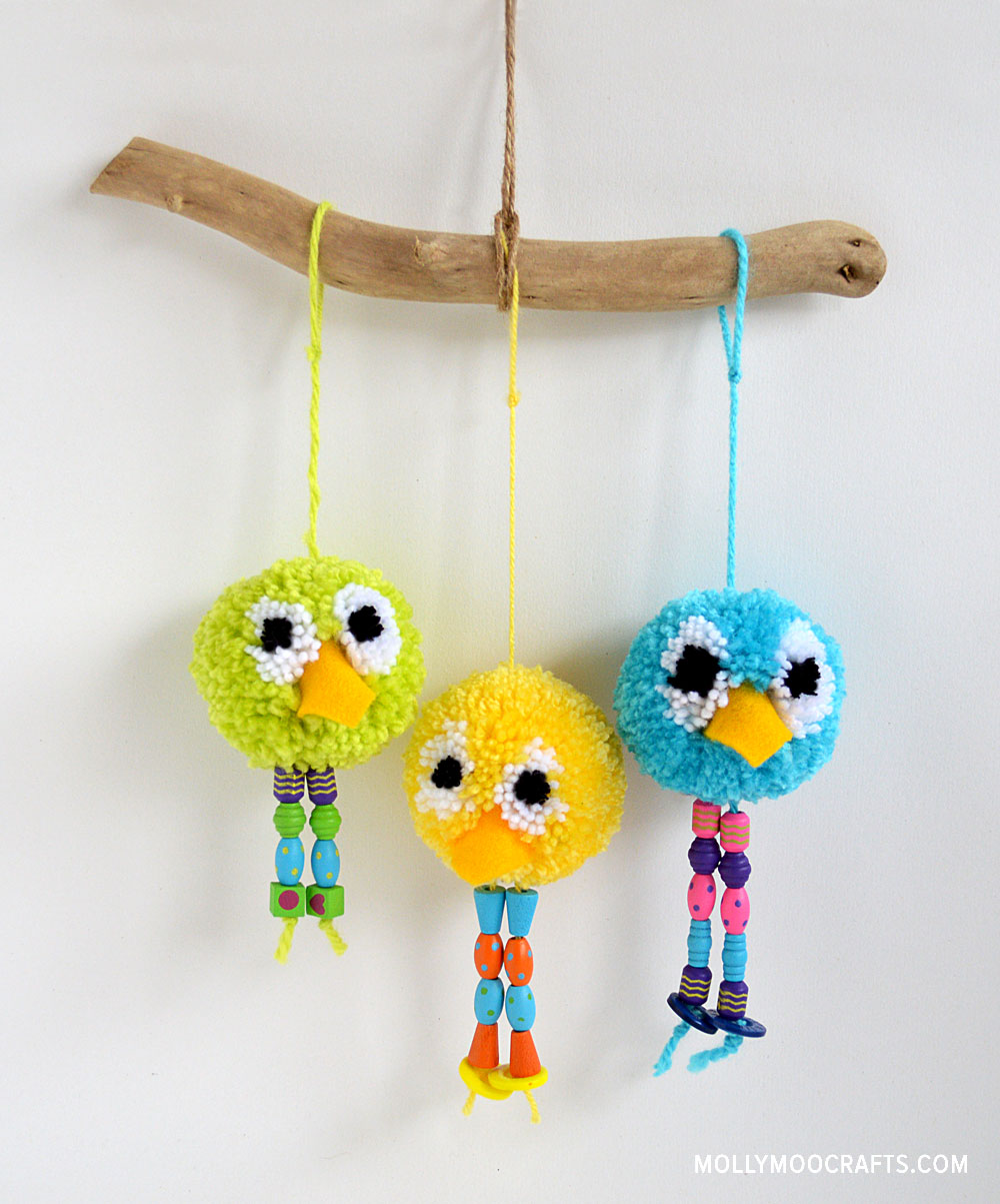 Pom Pom Birds Tutorial