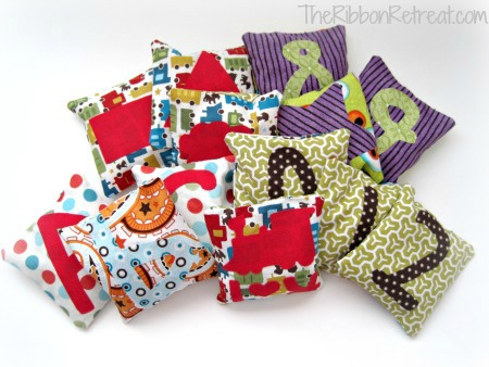 Bean Bags free pattern with applique