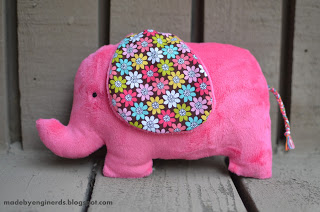 elephant plushie tutorial with templates