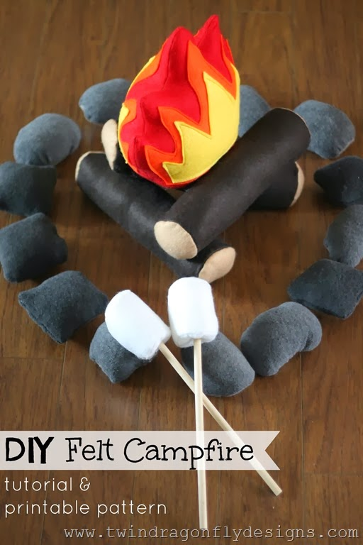 DIY Felt Campfire Tutorial and Pattern - Felt Campfire Play Set