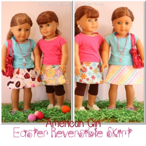 Reversible wrap skirt- American Doll