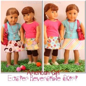 Reversible wrap skirt- American Doll