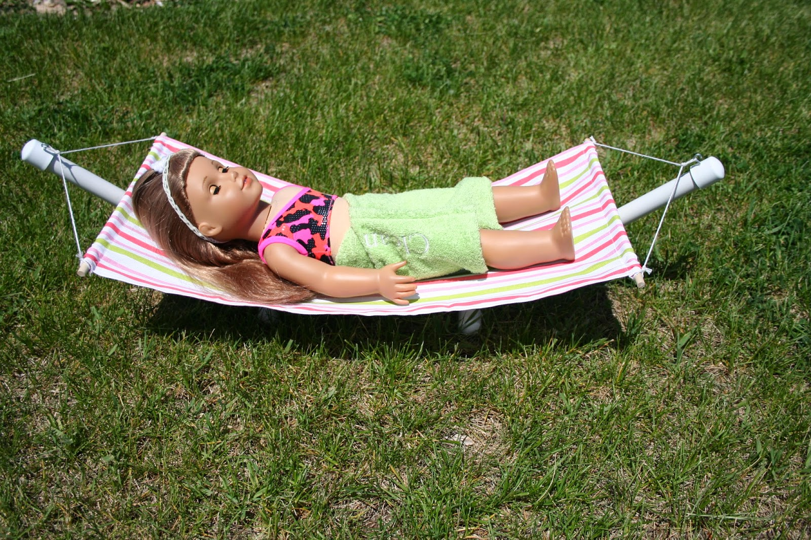 Hammock for American Girl Doll Free Tutorial