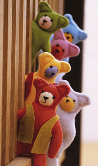 cute bears to sew from felt