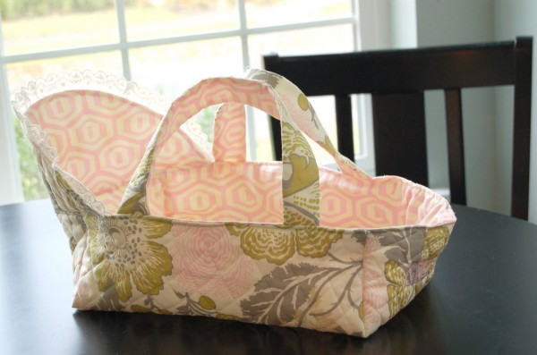 baby doll carrier or bassinet tutorial