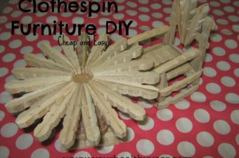 DIY Clothespin Furniture For Dolls