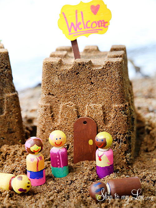DIy Sand Castle Figures | Wooden Dolls for Sandcastle Play