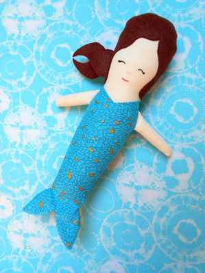 mermaid doll tutorial |free plushie and doll tutorials