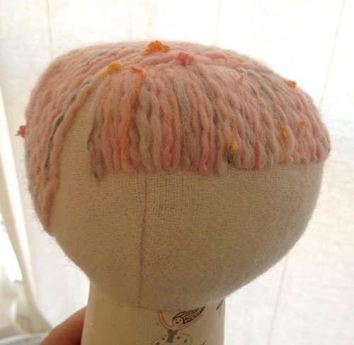 yarn hair tutorial for handmade dolls