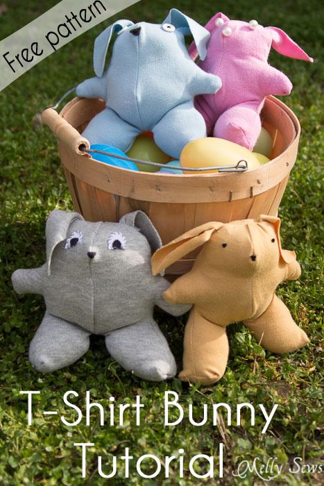 free t-shirt bunny pattern