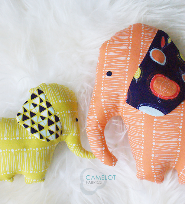 How To's Day: Endearing Elephants by Sweetbriar Sisters for Camelot Fabrics | Camelot Fabrics. Freshly Made | Elephant Dolls Tutorial - Endearing Elephants