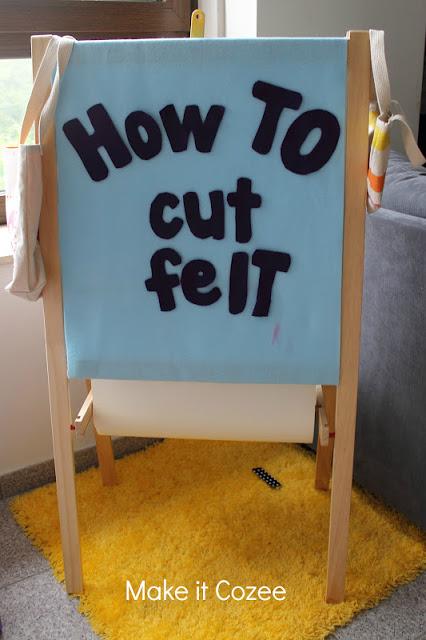 learn how to cut felt