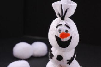 Olaf Sock Snowman Tutorial