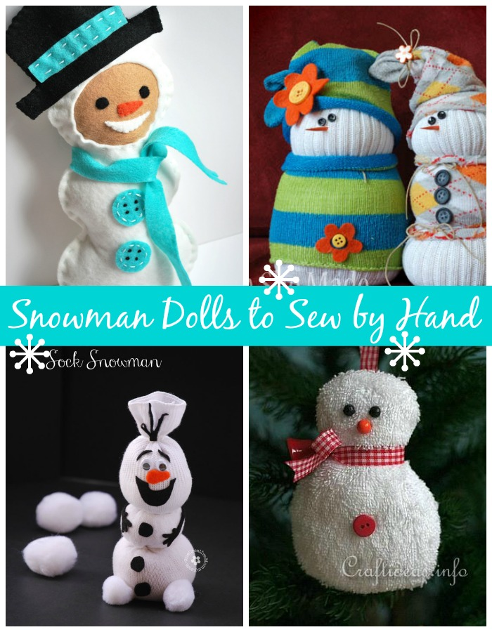 Snowman Crafts You Can Sew