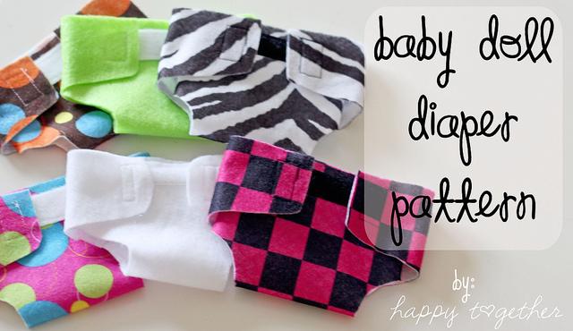Felt Baby Doll Diaper Pattern