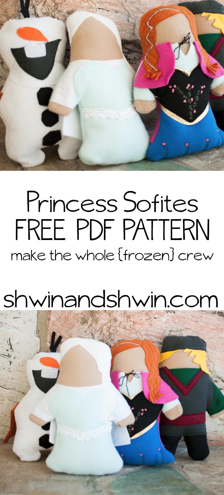 Frozen Princess Doll Pattern Free #frozen - Elsa Doll from Frozen the Movie