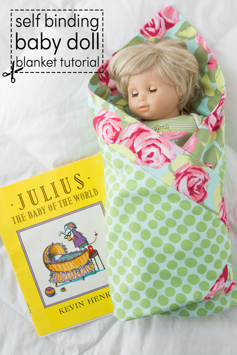 self binding baby doll blanket tutorial
