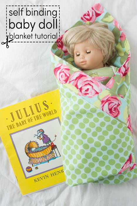self binding baby doll blanket tutorial
