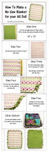 no sew doll blanket