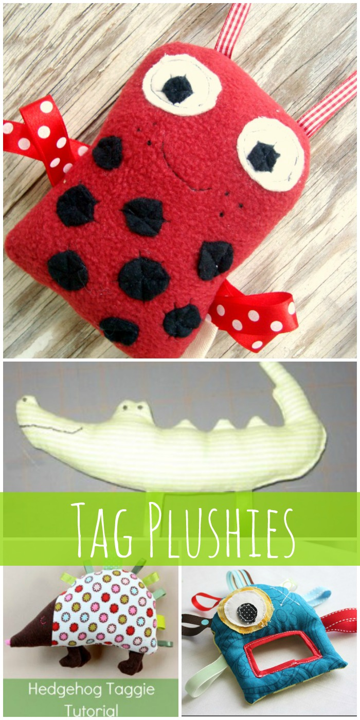 tag plushies great for exploring hands!