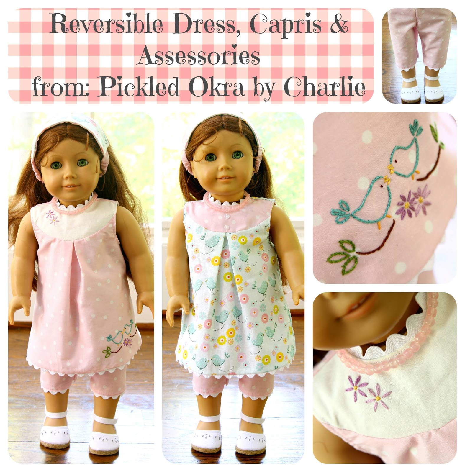 Free Doll Pattern Reversible Dress