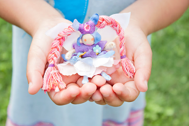 tiny fairy peg doll