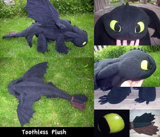toothless plushie pattern- free!