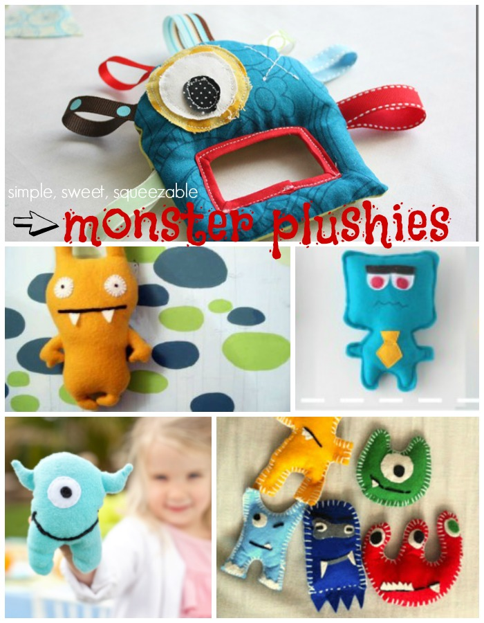 monster plushie tutorials and free patterns