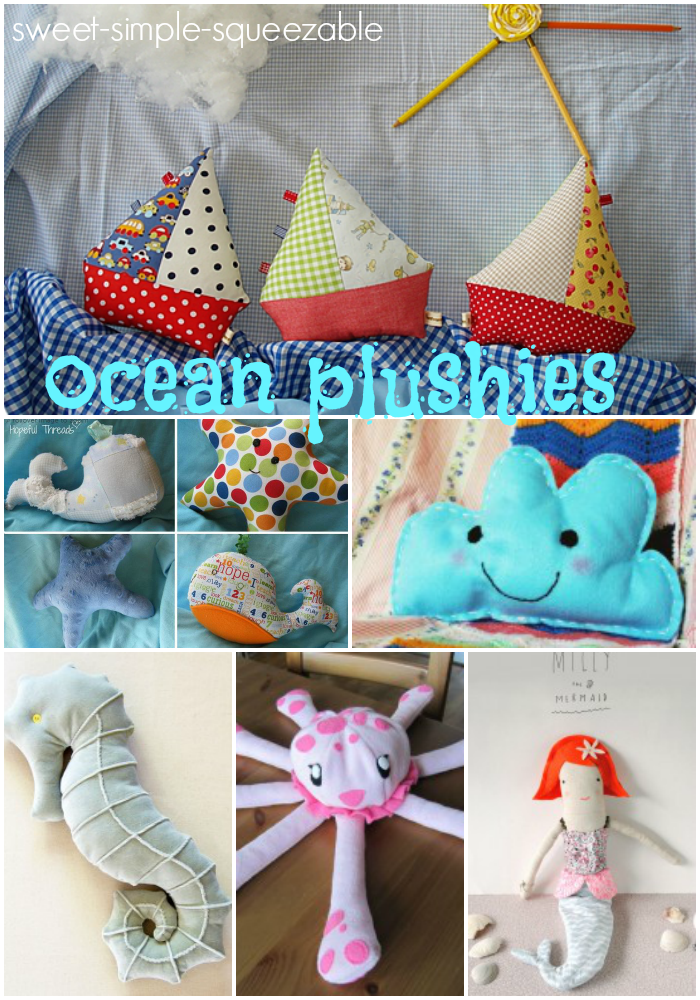 18 Ocean Plushies – Free Templates