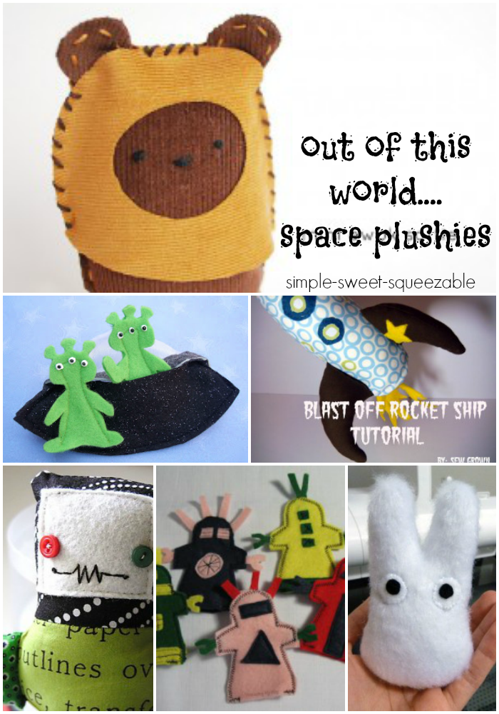 out of this world space plushie you can sew