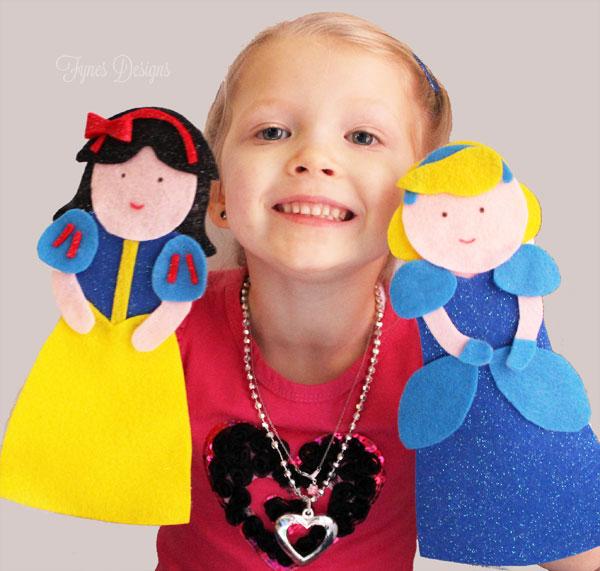 Disney Princess Puppets- FREE Pattern
