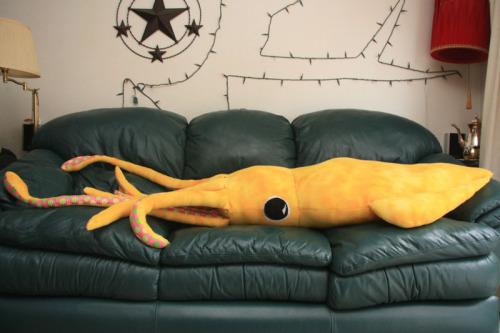 giant squid pillow plushie tutorial