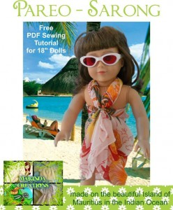 Doll Sarong Free Pattern | Little girls will definitely enjoy their summer vacation at the beach a lot more with this adorable doll!