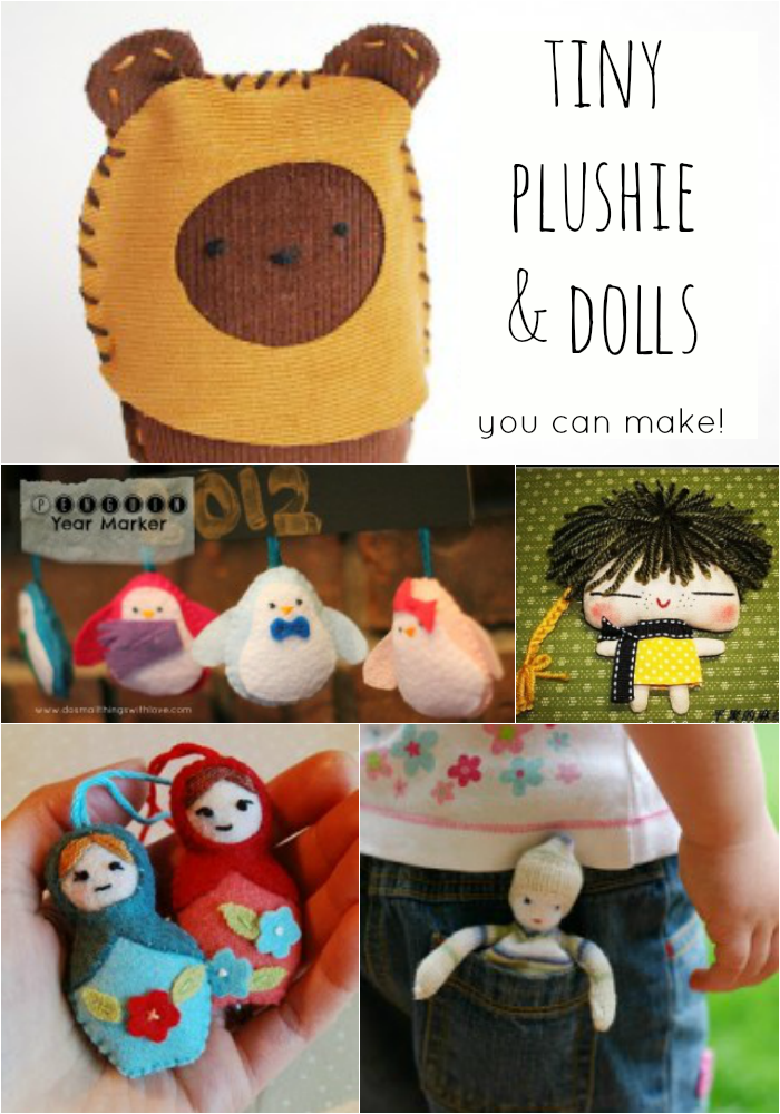 10 Teenie Tiny Plushies and Dolls
