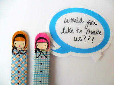 Craft Stick Dolls - miss lolly dolly