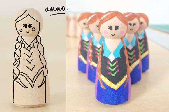 How To Paint Anna and Elsa!