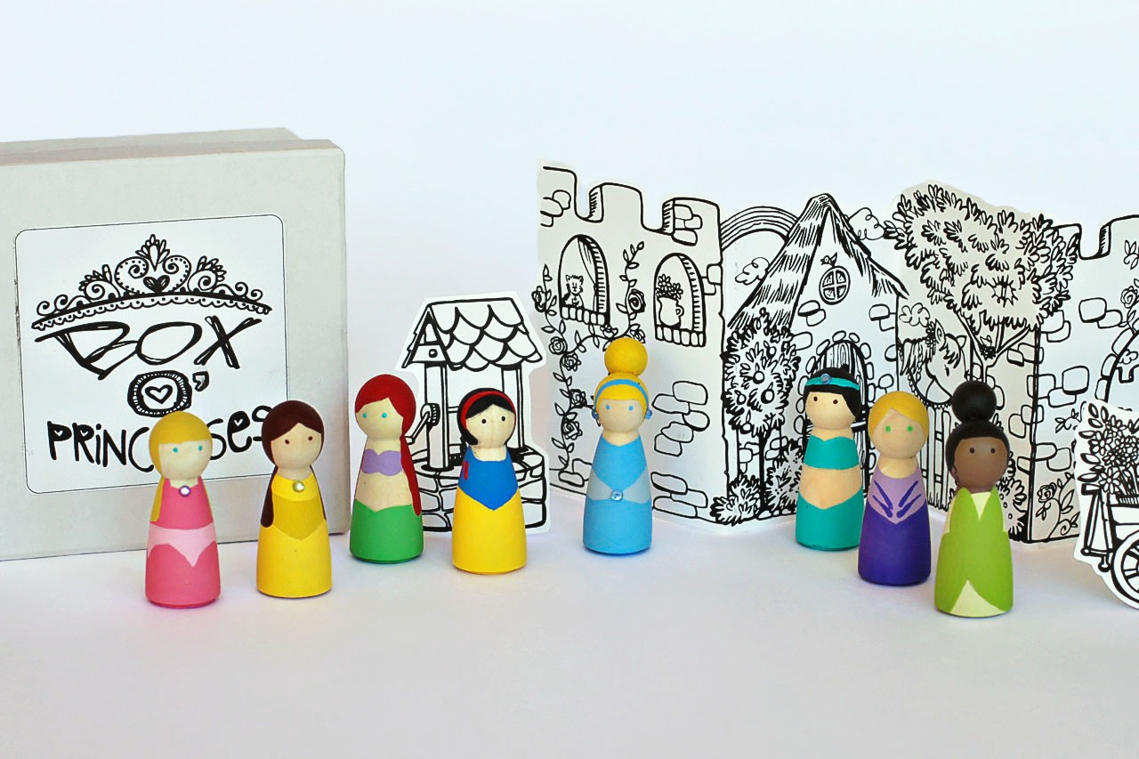 DIY Princess Peg Dolls