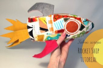 Fabric Scrap Rocket Ship Tutorial