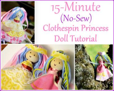 Clothespin Princess Doll
