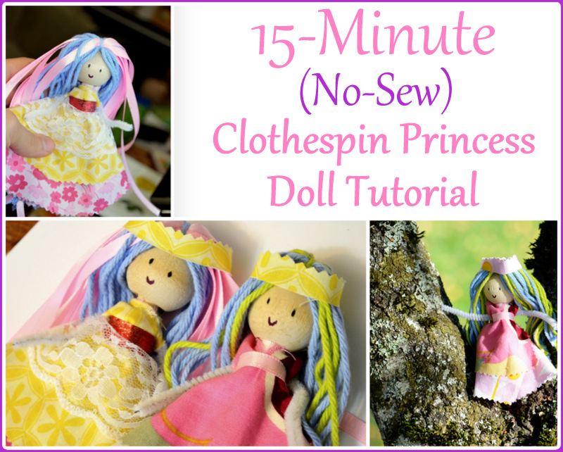 Clothespin Princess Doll