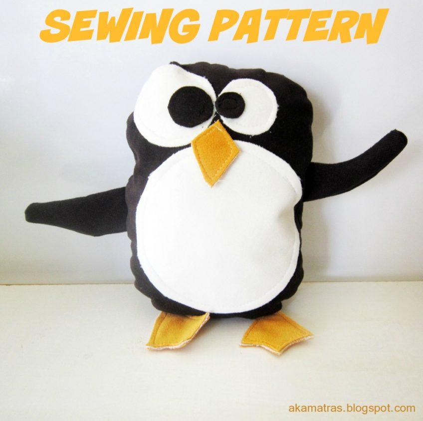 Penguin Stuffed Animal Sewing Pattern