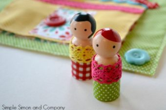Quiet Book Page With Peg Doll