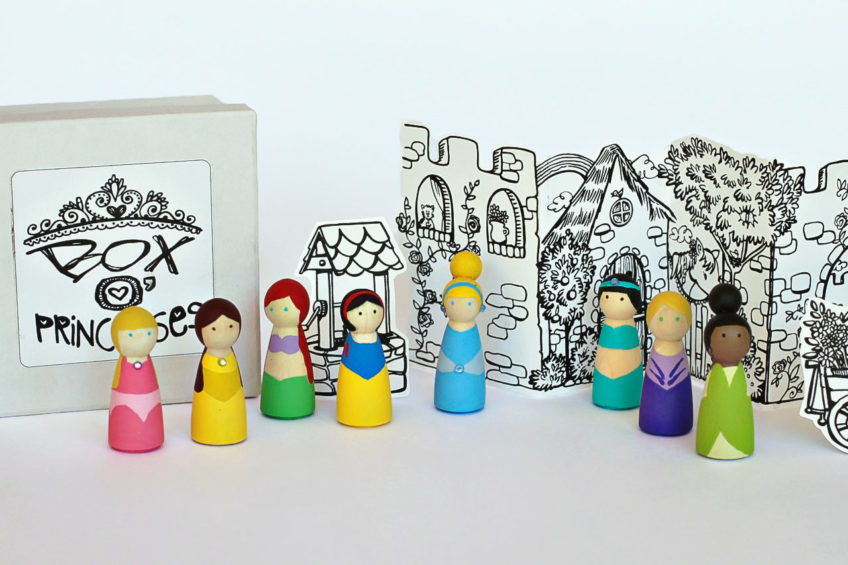 Princess Peg Dolls DIY