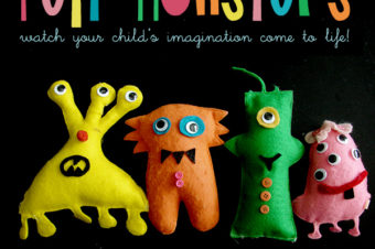 Felt Monsters to Make From Your Own Drawings