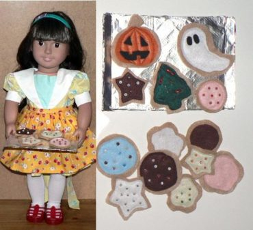 Felt Cookies & Apron for American Girl Doll