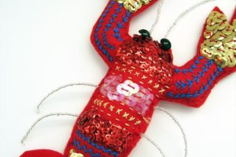Felt Lobster Plushie with Sequins