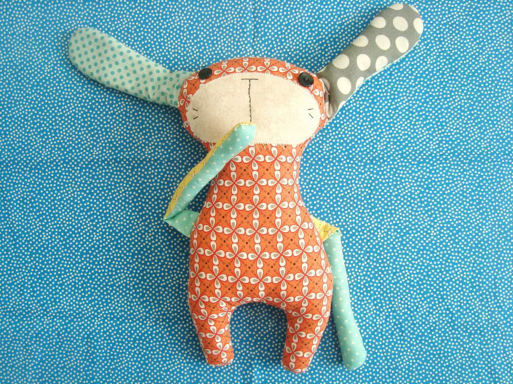 bunny plushie free pattern and template