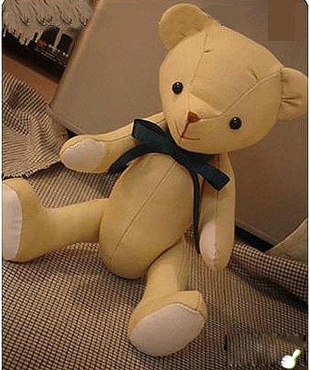 handmade teddy bear DIY tutorial for Valentine's Day